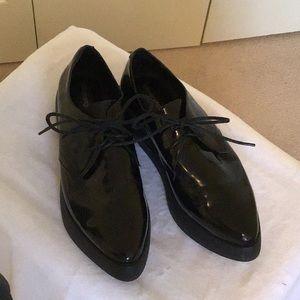 Jeffrey Campbell Black Leather Oxfords